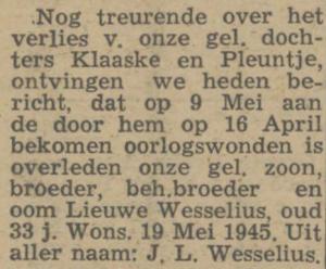 Wesselius Lieuwe