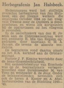 Hulsbeek Jan begrafenis
